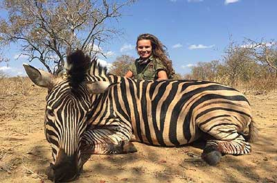 Wehinger with dead zebra.