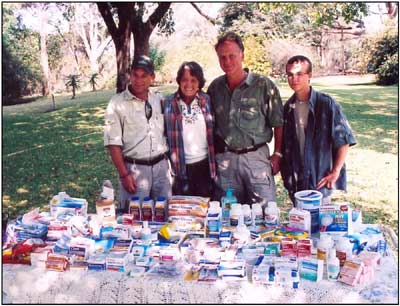 A photo from the 2010 Blue Bag delivery shows some of the much needed supplies that are delivered to Zimbabwe.